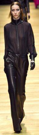 черные прозрачные блузки осень-зима 2013-2014 фото