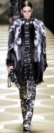 модные черно-белые шубы 2013-2014 фото