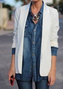 джинсовая рубашка с джинсами фото