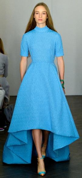 длинное летнее платье 2014 голубого цвета