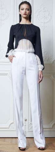 модные блузки осень-зима 2013-2014 с пышными рукавами