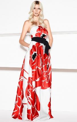 Летние красные длинные платья