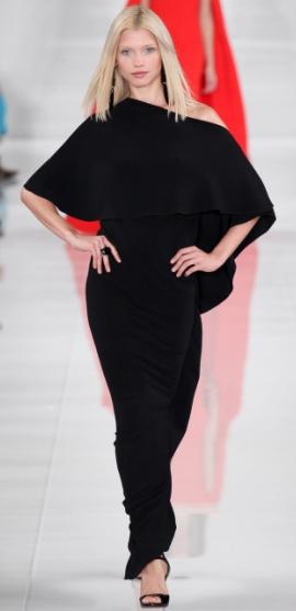 элегантное черное платье в пол из новой коллекции 2014 года