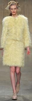 платья-шубы осень-зима 2013-2014 фото