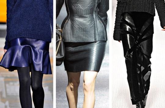 кожаные юбки фото различных фасонов, модели кожаных юбок
