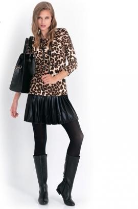 с чем носить женские кожаные юбки