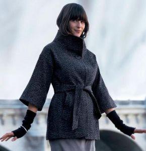 пальто с коротким рукавом и перчатки фото