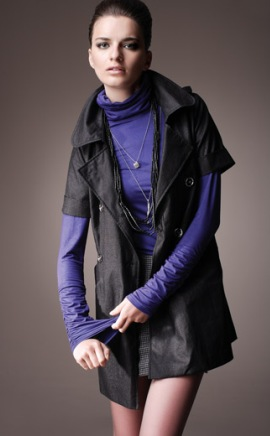 модели пальто с коротким рукавом
