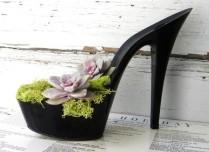 цветочный горшок из обуви