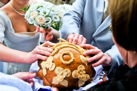 свадебный каравай фото