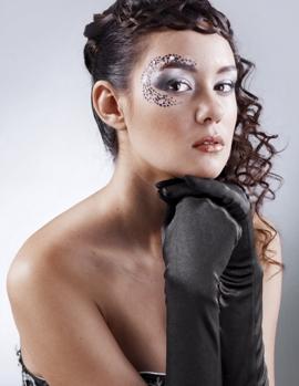 фотографии новогоднего макияжа 2013 со стразами