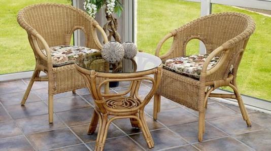 плетеная мебель в интерьере фото