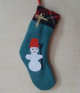 как сделать новогодний носок своими руками