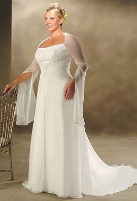 И рисунок для платья невесты стройнит